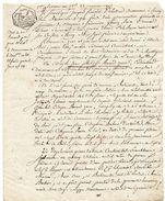 1er Pluviose An 13 - 1805 -  Document Manuscrit - Bail (2 Pages) Cachet Fiscal (Seine Inférieure) 25ct - Fiscaux