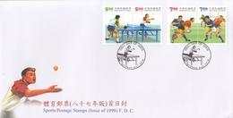 TABLE TENNIS-TISCHTENNIS-PING PONG-TENNIS DE TABLE-TENNIS TAVOLO-SPORT, Special Cover / Stamp / Postmark  !! - Tennis Tavolo