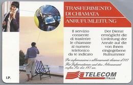 IT.- TELECOM ITALIA. CARTA TELEFONICA. LIRE 5.000. TRASFERIMENTO DI CHIAMATA. ANRUFUMLEITUNG. 2 Scans - GSM-Kaarten, Aanvulling & Voorafbetaald