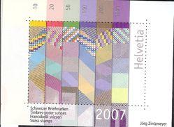 SUISSE 2007   BLOC- VIGNETTE EMIS AVEC LE  LIVRE ANNUEL **  MNH - Blocks & Kleinbögen