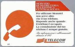 IT.- TELECOM ITALIA. CARTA TELEFONICA. LIRE 10.000. MEMOTEL. SERVIZIO DI SEGRETERIA TELEFONICA. 2 Scans - GSM-Kaarten, Aanvulling & Voorafbetaald