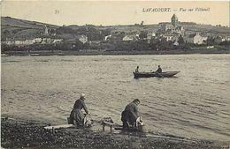 - Dpts Div.-ref-WW148- Yvelines - Lavacourt - Vue Sur Vetheuil - Laveuses - Laveuse - Metiers - - France