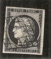 CERES N° 3 Noir Intense Sur Blanc Superbe  Côte 110€ - 1849-1850 Cérès