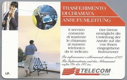 IT.- TELECOM ITALIA. CARTA TELEFONICA. LIRE 10.000. TRASFERIMENTO DI CHIAMATA. ANRUFUMLEITUNG. 2 Scans - GSM-Kaarten, Aanvulling & Voorafbetaald