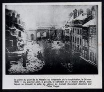 1958  --  THIONVILLE   LA PORTE DU PONT DE LA MOSELLE LE 24 NOV 1870   3N083 - Old Paper