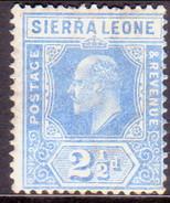 SIERRA LEONE 1907 SG #103 2½d Blue MH Wmk Mult.Crown CA - Sierra Leone (...-1960)
