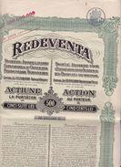 """(Tapp 1)  Actions & Titres """"Redeventa""""  500  Lei 1924 - Acciones & Títulos"""