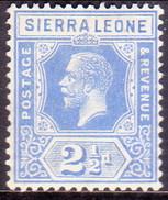 SIERRA LEONE 1921 SG #135 2½d MLH Wmk Mult.Script CA - Sierra Leone (...-1960)