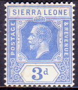 SIERRA LEONE 1921 SG #136 3d MNH Wmk Mult.Script CA - Sierra Leone (...-1960)