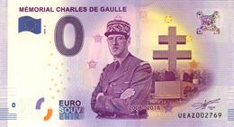 52 COLOMBEY LES 2 ÉGLISES CHARLES DE GAULLE BILLET ZERO EURO SOUVENIR 2018 BANKNOTE BANK NOTE PAPER MONNAIE EURO SCHEIN - EURO