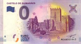 PORTUGAL CASTELO DE GUIMARAES BILLET ZERO EURO SOUVENIR 2017 BANKNOTE BANK NOTE PAPER MONNAIE EURO SCHEIN - EURO