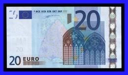 "20 EURO ""V"" SPAIN Firma DUISENBERG M004 D5 VF-XF  SEE SCAN!!!!!! - EURO"