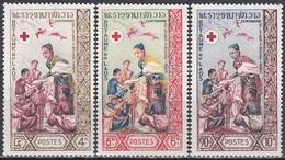Laos 1963 Organisationen Rotes Kreuz Red Cross Gesundheit Medizin, Mi. 132-4 ** - Laos