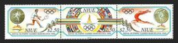 NIUE 1992 - OLYMPICS BARCELONA 92 - YVERT Nº 587-589 - MICHEL 793-795 - SCOTT 624a-624c** - Niue