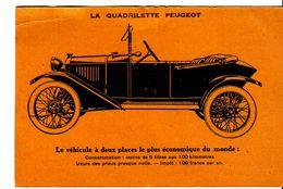 Cpa Cpsm Pub  Quadrilette Peugeot - Publicité