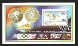 NIUE 1992 - OLYMPICS BARCELONA 92 - YVERT BLOCK 119 - MICHEL BLOCK 120 - SCOTT SS 625 - Niue
