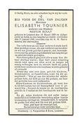 742. Elisabeth TOURNIER Wed. N. Bouly - °LOMMEL 1868 En Aldaar + 1946 - Devotieprenten