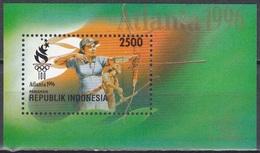 Indonesien Indonesia 1996 Sport Olympia Olympischen Spiele Atlanta Bogenschießen, Bl. 109 ** - Indonesien