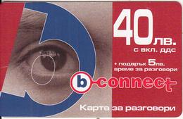 BULGARIA - Eye, B Connect Prepaid Card 40 Leva, Exp.date 18/01/07, Mint - Bulgaria