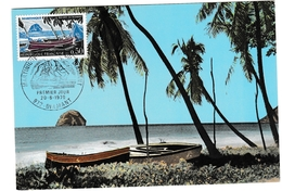 Diamant Martinique 1970 - Carte Maximum - Rocher Diamond - Brieven En Documenten