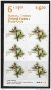 CANADA, 2010,# 419, PANE #2362a, FLOWERS DEFINITIVES: GIANT HELLEBORINE, USA  RATE  $1.00 - Pages De Carnets