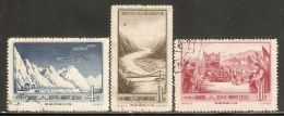China P.R. 1956 Mi# 311-313 Used - Completion Of Sikang-Tibet And Chinghai-Tibet Highways - 1949 - ... Repubblica Popolare