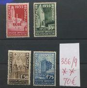 Expo 1935   386/389 **  C: 70 E - Unused Stamps