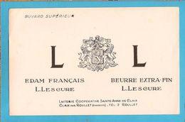 BUVARD & Blotting Paper : Laiterie Cooperative (Beurre) Claix Par Roullet (Couleur Rose ) - Dairy