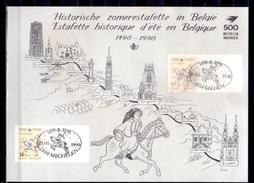 1990   Feuillet Souvenir Des Relais Historique, 2350HKs2, Cote 110 €, - Cartas Commemorativas