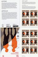 CANADA 2011. Bk # 456, Pane  #2451a,,ASTROLOGIE, ASTROLOGY, SIGNS OF ZODIAC: GEMINI,   MNH - Full Booklets