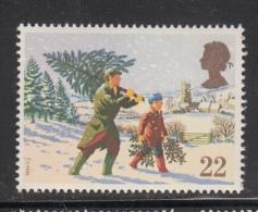 Great Britain 1990 MNH Scott #1341 22p Carrying Tree Home Christmas - Noël