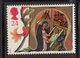 Great Britain 1991 MNH Scott #1417 24p Illuminated Letter M - Christmas - Neufs
