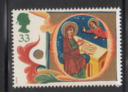 Great Britain 1991 MNH Scott #1419 33p Illuminated Letter Q - Christmas - Noël