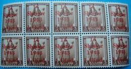 ALBANIA 10 STAMPS 1 QIND.1943  MNH, KINGDOM - Albanie
