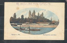 Speyer, Rheinpartie Und Dom, 1915, Feldpost (55) - Speyer