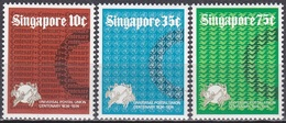 Singapur Singapore 1974 Organisationen Weltpostverein Postwesen UPU Kommunikation, Mi. 215-7 ** - Singapur (1959-...)