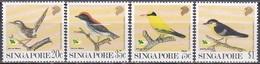 Singapur Singapore 1991 Tiere Fauna Animals Vögel Birds Naturschutz, Mi. 636-9 ** - Singapur (1959-...)