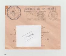 LSC 1968 - Cachet GENDARMERIE NATIONALE + Flamme + Cachet ANNEMASSE - Marcophilie (Lettres)