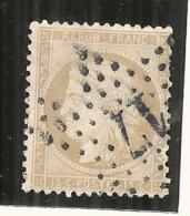 Ceres -  15 Cts Bistre Chiffres Maigres - N° 59 Côte 8€ Oblitéré étoile De Paris 17 - 1870 Siege Of Paris