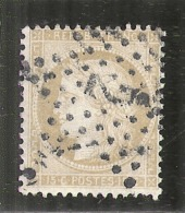 Ceres -  15 Cts Bistre Chiffres Maigres - N° 59 Côte 8€ Oblitéré étoile De Paris 2 - 1870 Siege Of Paris
