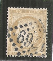 Ceres -  15 Cts Bistre Chiffres Maigres - N° 59 Côte 8€ - 1870 Siege Of Paris