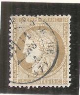 Ceres -  15 Cts Bistre Chiffres Gras  - N° 55 Côte 5€ - 1870 Siege Of Paris