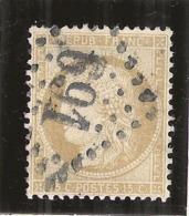 Ceres -  15 Cts Bistre Chiffres Gras  - N° 55 Côte 7.50€ Côte Centrage - 1870 Siege Of Paris