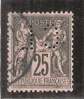 Type Sage 25 Cts Noir Sur Rose N° 97 -- Perforé CL - 1876-1898 Sage (Type II)