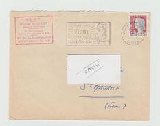 LSC 1963 - Flamme VICHY - Santé Vacances - Marcophilie (Lettres)