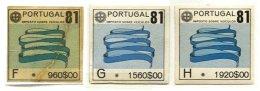 PORTUGAL, Automobile Licence, PB 156/58, Cat. € 8 - Revenue Stamps