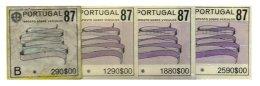 PORTUGAL, Automobile Licence, PB 340, 346, 347, 349, Cat. €15 - Revenue Stamps