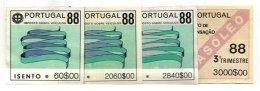 PORTUGAL, Automobile Licence, PB 375, 384, 386, 404, Cat. €18 - Revenue Stamps