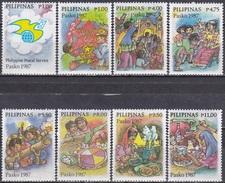 Philippinen Philippines 1987 Religion Weihnachten Christmas Brieftaube Doves, Mi. 1821-8 ** - Philippinen