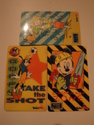 3 Remote Phonecards From Indonesia - Disney - Mickey - Indonesia
